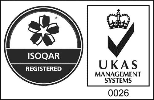 ISOQAR Regsitered - UKAS Management Systems 0026